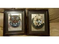 2 lovely framed pictures from paint on zoo