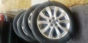 MAZDA CX 5  OEM 19 INCH ALLOY WHEELS WITH HIGH PERFORMANCE TOYO 225 / 55  /  19 ALL SEASON TIRES