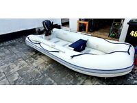 Rib boat quicksilver with mercury engine
