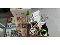 Wii with Wii fit board, 16 games and extras