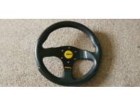 GENUINE momo 280mm steering wheel