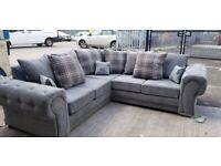 Sale On Brand New Verona Chesterfield Corner Sofa 3+2 Seater Sofa Set Order Now
