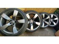 """19"""" Audi rotor alloy wheels and tyres genuine BBS ,a4 a5 a6 a7 Passat golf caddy..."""