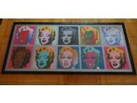 Ten Marilyns, 1967 by Andy Warhol Art Print - Marilyn Monroe framed print
