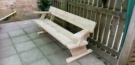New 6ft art deco garden bench