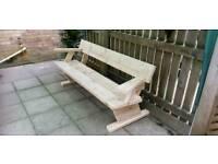 New 6ft art deco garden bench