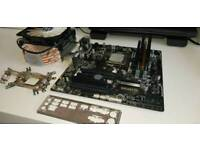 AMD X4 660k 16mb ddr3 memory motherboard and cool master heatsink and fan