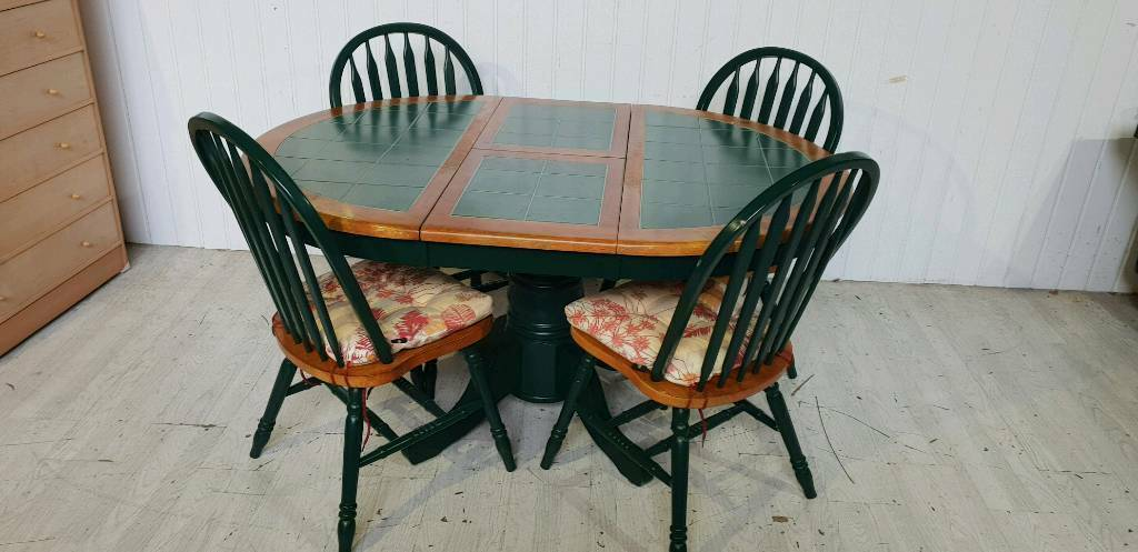 Swell Reserved Round Extendable Upcycled Dining Table And 4 Chairs In Dundee Gumtree Caraccident5 Cool Chair Designs And Ideas Caraccident5Info