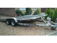 """BRIAN JAMES TWIN AXLE TILT BED TRAILER ( 14' X 6'3"""" ) WITH WINCH"""