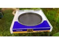 Hoya circular polariser 67mm