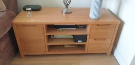 Wooden dining room coffee table with 4 drawers