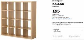 Ikea Kallax 4x4 Shelving Unit in Oak