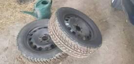 Bmw steel wheels off e46