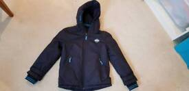 Rebel navy waterproof coat age 7-8 years