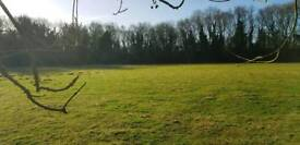 Private fenced 2.5 acre dog walking field.