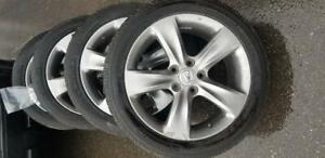 ACURA TL   HIGH PERFORMANCE MICHELIN ALL SEASON  TIRES 245 / 45 / 18  ON  ACURA   OEM ALLOY WHEELS WITH TPMS