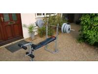 Pro Power weight bench with bar and 40kg