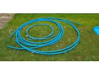 Polypipe MDPE mains water blue pipe 25mm x roughly 10 meters and 20mm x5 meters