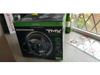 TMX Thrustmaster steering wheel, peddles with force feedback
