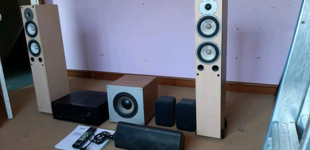 Surround System: Denon AVR 1912,Jamo centre speaker,Gale speakers,Cambridge  SUB, Ariston speakers | in Coalville, Leicestershire | Gumtree