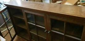 Gorgeous solid oak glass fronted cupboards