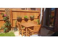 Solid wood garden table