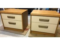 One pair of matching bedside cabinets by Stag
