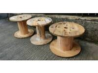 Smal cable reel drums garden tables chairs display