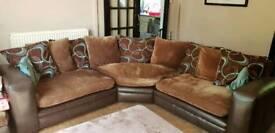 Large corner sofa & footstool