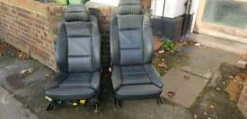BMW E60 COMFORT SEATS INTERIOR BLACK LEATHER FRONT REAR