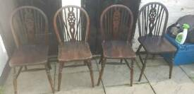 Vintage Windsor wheel back chairs 2 carvers 8 non carvers