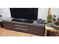 ALMOST NEW TV STAND, TV, CUPBOARD, DRAWER