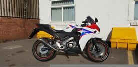 Honda 2010 crb125 with full racing exhaust