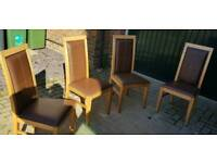 4x Brown dining chairs good condition