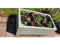 Large wooden garden planter 100cm by 46cm