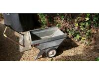 Small galvanised wheelbarrow