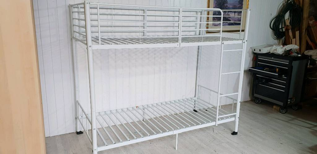 White Metal Bunk Beds Frame In Dundee Gumtree