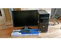 HP Desktop PC + HD Monitor + Keyboard + Mouse