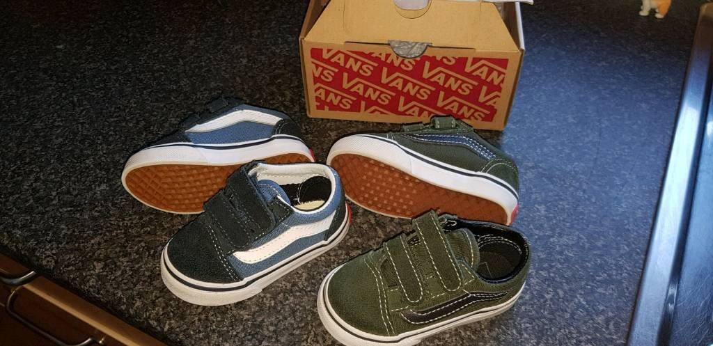 effc777da82db 2 pair of Vans Size 4 Uk Toddler | in Mayfield, Midlothian | Gumtree