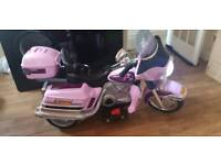 12v pink harley style electric bike