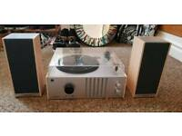 Crosley Player II Record Vinyl Turntable and Speakers