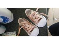 Girls infant size 4 converse