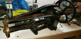 Leather cutting machine antique good working order