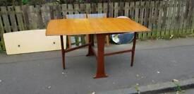 Vintage Teak Dining Table Drop leaf Rectangular.