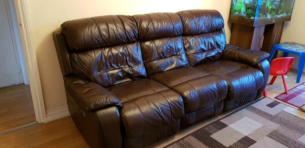 Three Seats Leather Sofa