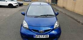 Taxed for one year.1 lady owner from new Toyota aygo blue vvt-i 998cc.