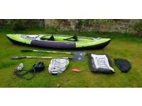 Sevylor Yukon 380 Inflatable Blow up kayak Canoe with Paddles and Pump