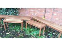 4 x Teak Benches, Indoor / Outdoor, New / Unused