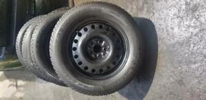 LIKE NEW MAZDA CX5  HIGH PERFORMANCE    MICHELIN  WINTER TIRES 225 / 65 / 17  ON  HUBCENTRIC OEM  QUALITY STEEL RIMS