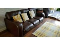 John Lewis leather sofa
